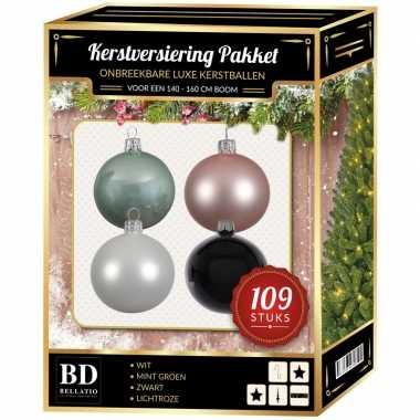 Complete luxe versiering set nr. 13 voor 150 cm kerstboom
