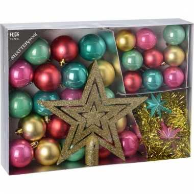 Kerstboom decoratie set 33 delig fantasy classics