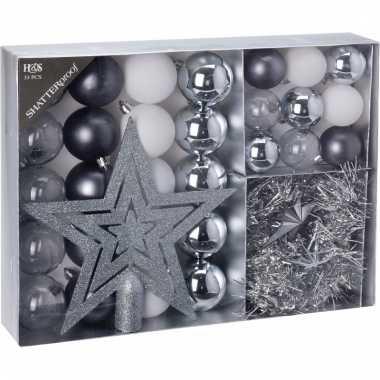 Kerstboom decoratie set 33 delig frozen classics