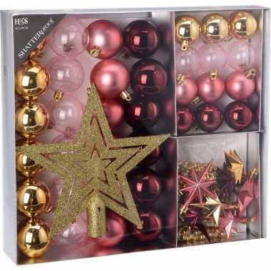 Kerstboom decoratie set 45 delig candy classics