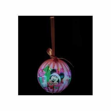 Verlichte kerstbal van minnie mouse